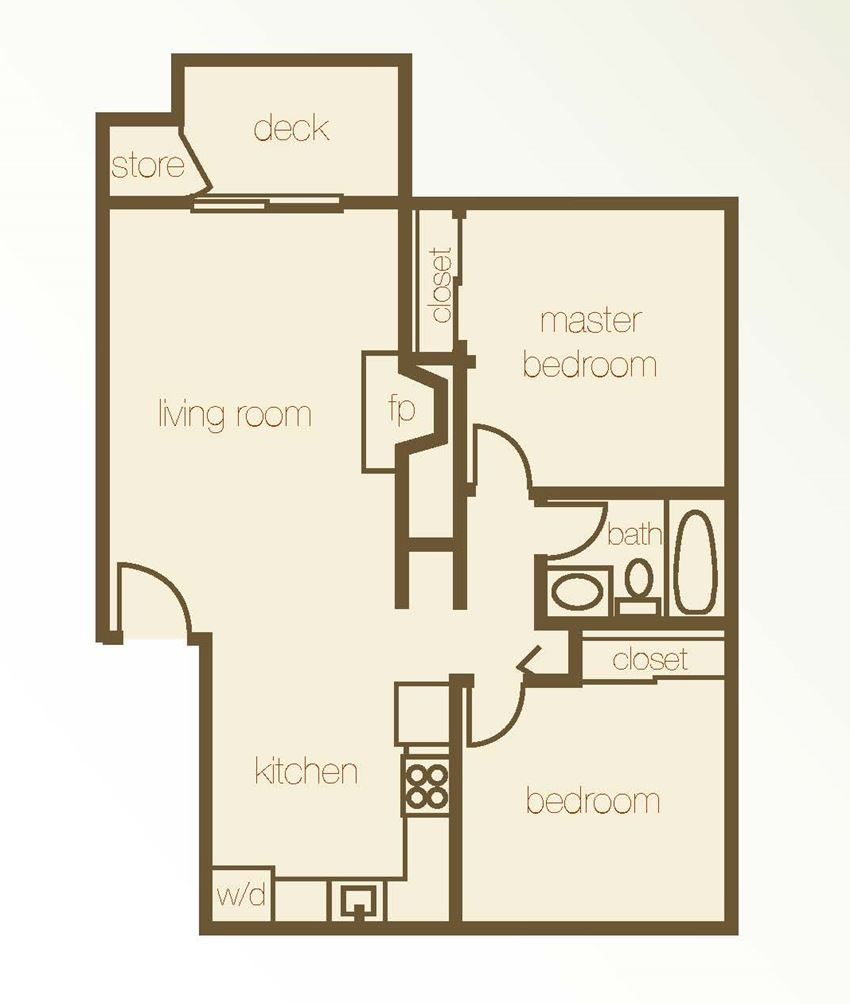 Floor Plan 2 Bdr